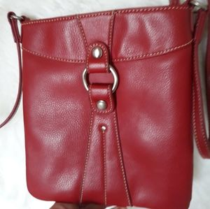 Nine West Red Leather cross body